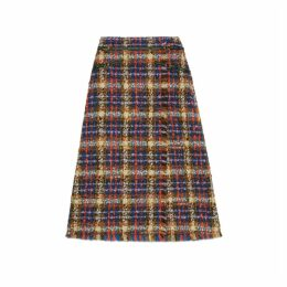 Tweed skirt with horseshoe