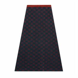 Interlocking G lamé wool skirt