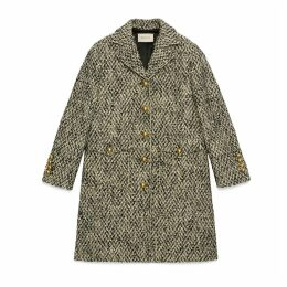 Tweed coat with Double G