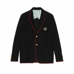 Palma wool cotton jacket with patch