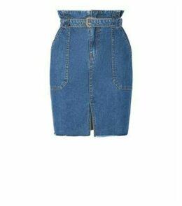 Urban Bliss Blue Denim High Waist Skirt New Look