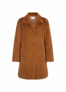 Freda Fur Coat Mocha