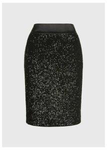 Salma Sequin Skirt Black