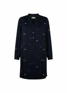 Effie Dress Navy Multi