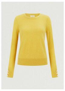 Priya Wool Cashmere Sweater Saffron