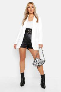 Womens Plus Tailored Blazer - white - 24, White
