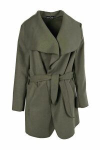 Womens Waterfall Coat - green - One Size, Green