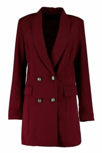 Womens Premium Longline Blazer - red - 12, Red