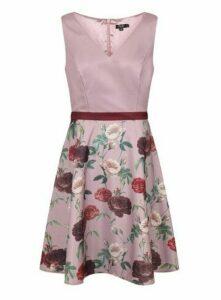 **Chi Chi London Pink Midi Dress, Pale Pink