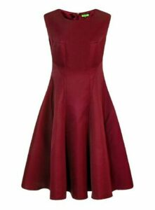 **Chi Chi London Burgundy Skater Dress, Burgundy
