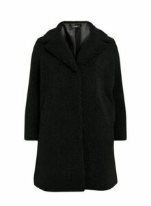 Black Teddy Borg Coat, Black