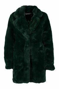 Womens Boutique Faux Fur Coat - green - M, Green