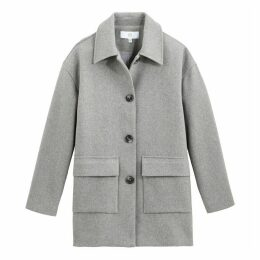 Mid-Length Buttoned Coat