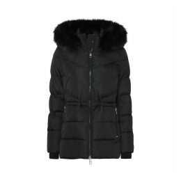 Mid-Length Padded Jacket with Hood