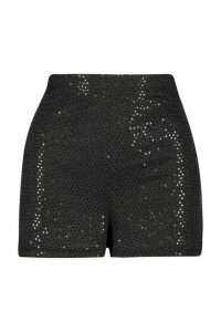 Womens Sparkle Highwaist Hottrousers - black - 12, Black
