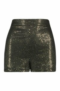 Womens Sparkle Highwaist Hottrousers - metallics - 16, Metallics
