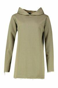 Womens Tonal Oversized Hoodie Dress - green - 16, Green