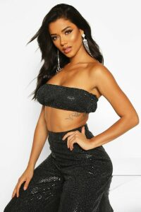 Womens Mini Sequin Bandeau - black - 14, Black