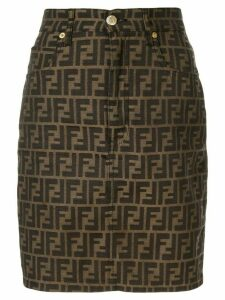 Fendi Pre-Owned Zucca print skirt - Brown