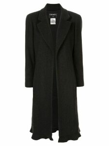 Chanel Pre-Owned cashmere midi open coat - Black