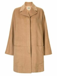 Hermès Pre-Owned wide sleeves coat - Brown