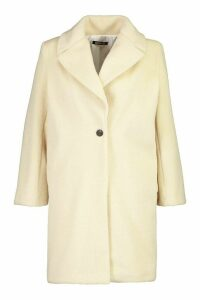 Womens Plus Soft Faux Fur Oversized Coat - white - 16, White