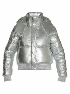 Off-White Silver Padded Coat