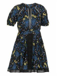 self-portrait Floral Patterned Mini Dress