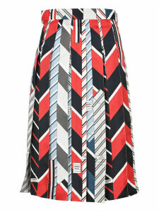 Thom Browne Rep Stripe Tie Collage Pleated Skirt