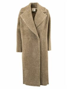 SEMICOUTURE Camel Virgin Wool Double-breasted Coat