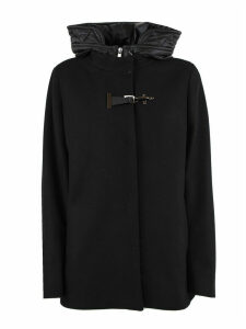 Fay Black Virgin Wool Cropped Parka