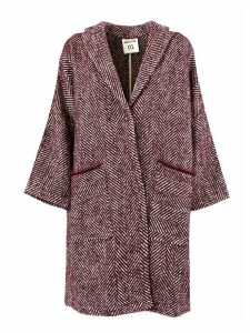 SEMICOUTURE Plum Wool Sigmund Oversized Coat