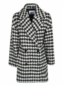 MSGM Houndstooth Double-breasted Coat