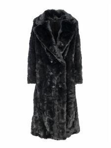 Amiri Faux Fur Double-breasted Coat