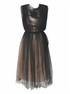 N.21 Sheer Panel Midi Dress