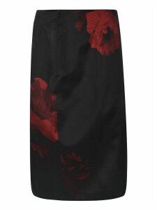 N.21 Rose Print Pencil Skirt