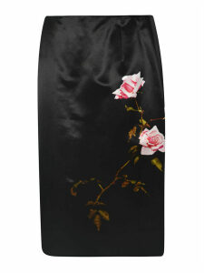 Dries Van Noten Rose Print Skirt