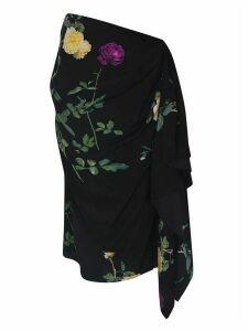Dries Van Noten Flower Draped Skirt