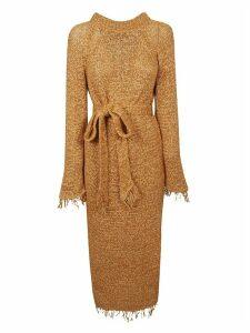 Nanushka Loose Knit Fringed Dress