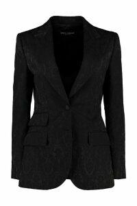 Dolce & Gabbana Jacquard Motif One-button Blazer
