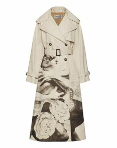 Valentino Lovers Print Trench With Belt