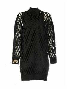Fendi Mesh Knit Viscose Dress
