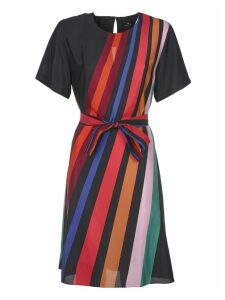 Multicolor Lined Dress