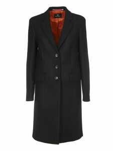 Wool And Cashmere Coat In Black