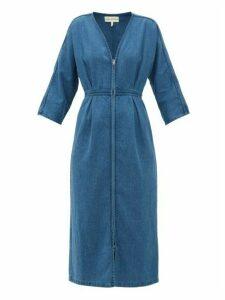 Mara Hoffman - Annetta Zipped Denim Dress - Womens - Blue