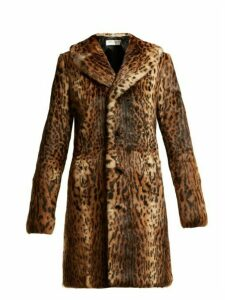 Saint Laurent - Leopard Print Rabbit Fur Coat - Womens - Leopard