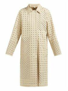 Burberry - Eyelet-embellished Cotton-gabardine Overcoat - Womens - Beige