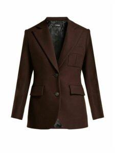 Kwaidan Editions - Single Breasted Wool Blazer - Womens - Dark Brown