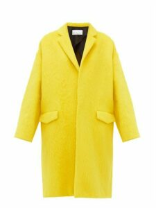 Raey - Notch Lapel Alpaca Blend Blanket Coat - Womens - Yellow