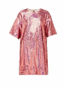 Raey - Long-line Sequinned Top - Womens - Pink